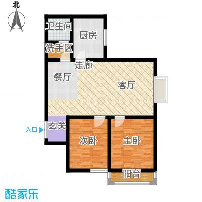 郦景澜庭86.62㎡二期1-3号楼B'2户型