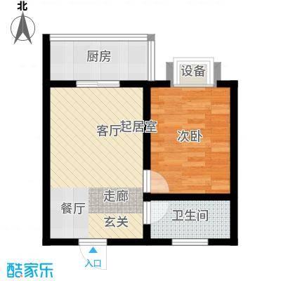 东城翡翠湾53.54㎡D户型