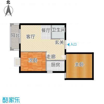 郦景澜庭89.09㎡二期1-3号楼C1户型