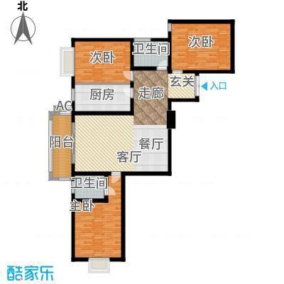 郦景澜庭129.60㎡二期1-3号楼B1户型