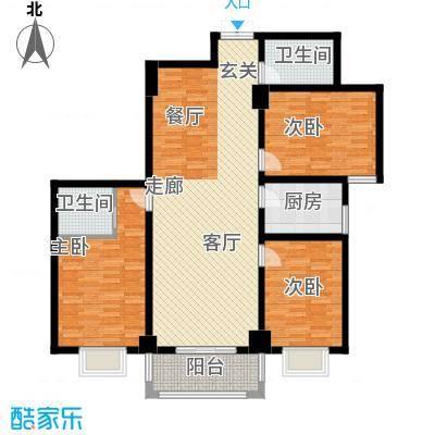 郦景澜庭122.21㎡二期1-3号楼A1户型