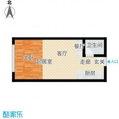 达生凤苑国际48.95㎡达生・凤苑国际D户型
