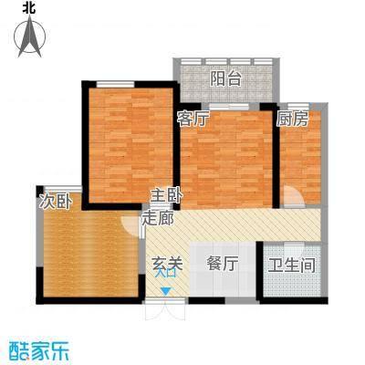 汉庭香榭93.22㎡1-F户型