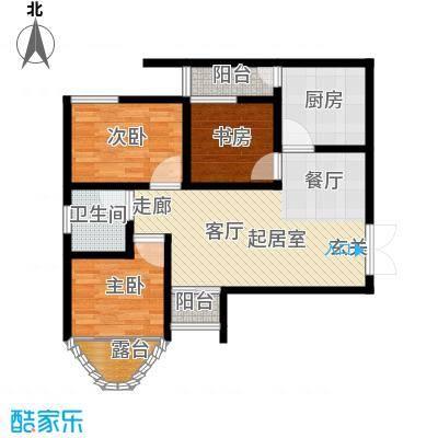 上林沣苑100.25㎡3#/14#/17#楼户型