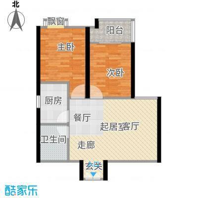上林沣苑84.88㎡户型