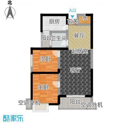 西港碧水湾91.82㎡B户型
