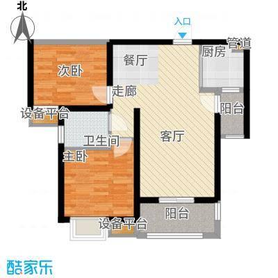 长兴园湖曲82.00㎡长兴・园湖曲5#/7#楼C户型