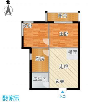 新兴新庆坊57.65㎡户型