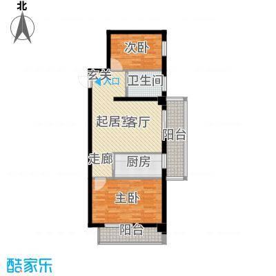 海威财富广场76.92㎡海威・财富广场1#/2#楼F户型