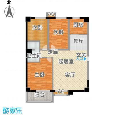 海威财富广场123.91㎡海威・财富广场1#楼C户型