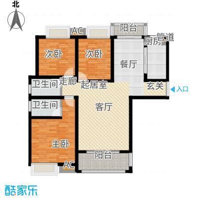 千林世纪城128.10㎡1号楼A7户型