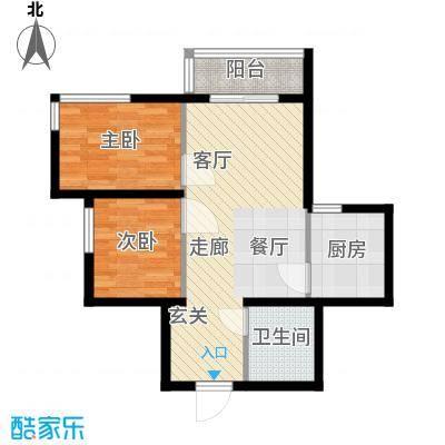 新兴新庆坊59.80㎡户型