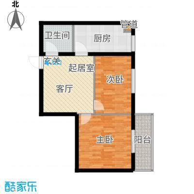 海威财富广场64.65㎡海威・财富广场1#/2#/3#楼E户型