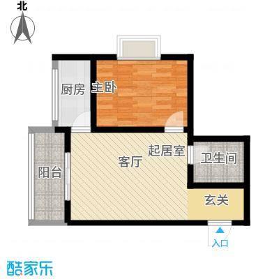 启迪书香逸居53.74㎡4号楼B户型