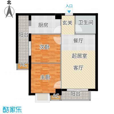 海威财富广场84.31㎡海威・财富广场1#/2#/3#楼A户型