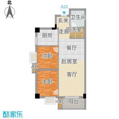 海威财富广场89.52㎡海威・财富广场3#楼D户型