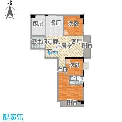 海威财富广场141.39㎡海威・财富广场1#/2#楼B户型