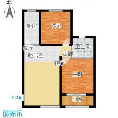 京都佳苑91.33㎡1、2#楼A户型