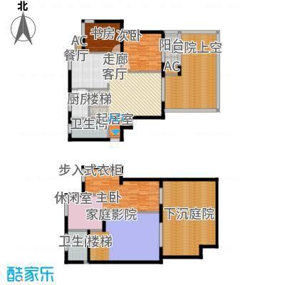 倚能维兰德小镇170.00㎡12/18/19号楼1单元1号房跃层5室户型