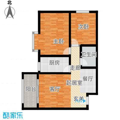馨雅园95.74㎡1单元A2室户型