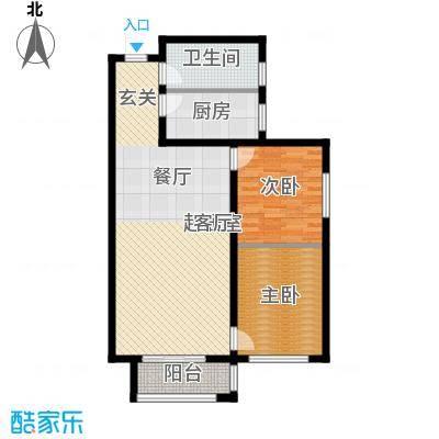 京都佳苑85.40㎡1、2#楼B户型