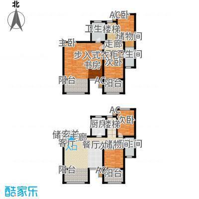 倚能维兰德小镇180.00㎡12/18/19号楼1单元2号房跃层5室户型
