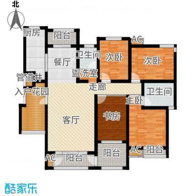倚能维兰德小镇150.00㎡8/9/10/11号楼2单元1号房4室户型