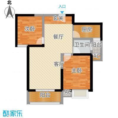 天香心苑85.98㎡2期7#D户型