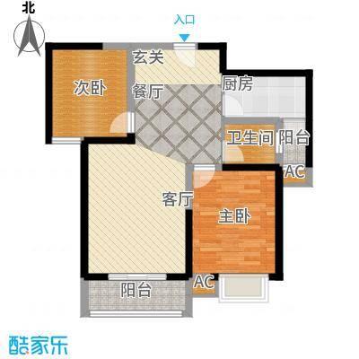 天香心苑93.82㎡2期7#D户型
