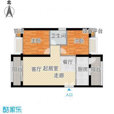 汉城壹号84.00㎡1-9#楼5k户型