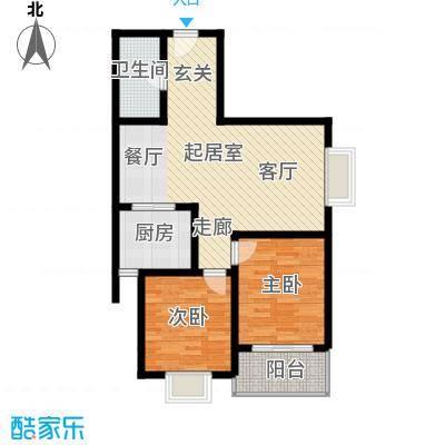 安诚御花苑97.27㎡B区2#楼1单元标准层F22室户型