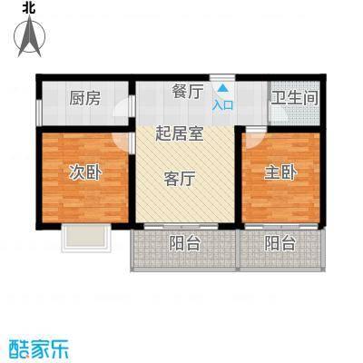安诚御花苑89.26㎡B区2#楼3单元标准层F2室户型