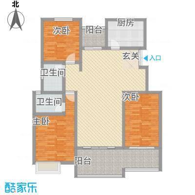 朱雀锦园129.00㎡1#/2#/3#楼B1户型