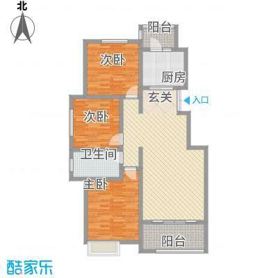 朱雀锦园107.00㎡1#/2#/3#楼C户型