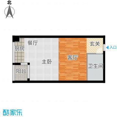 学府公馆58.10㎡1#B户型