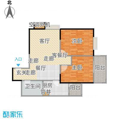 晶鑫华庭94.00㎡D户型