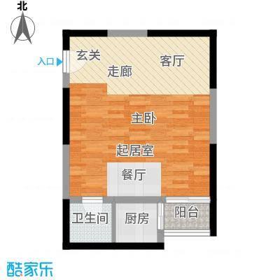 宏信国际花园53.57㎡5号楼B户型
