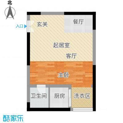 宏信国际花园55.15㎡4、6号楼F户型