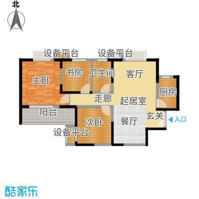 金泰丝路花城108.00㎡四期9#-11#-E户型