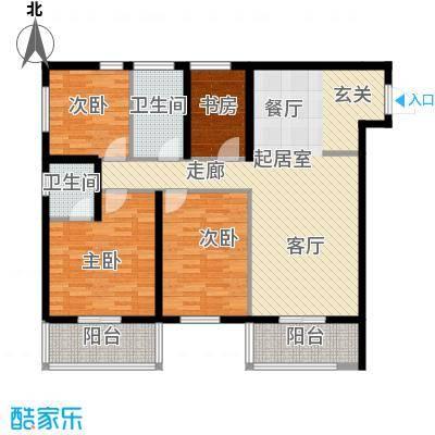 达成馨苑123.89㎡2号楼A户型