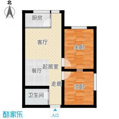 达成馨苑72.04㎡1号楼B户型