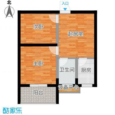 达成馨苑65.22㎡户型