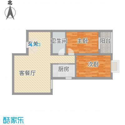 香米苑96.37㎡J标准层户型