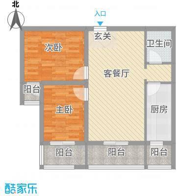 香米苑88.57㎡E标准层户型