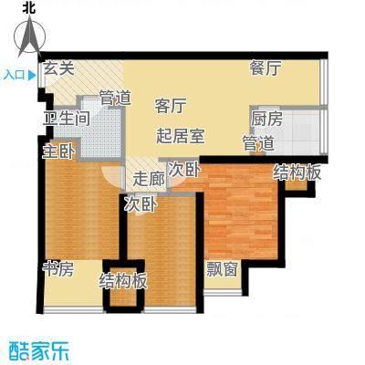 凤城一号91.65㎡D标准层户型