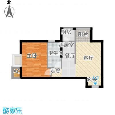 凤城一号62.56㎡J标准层户型