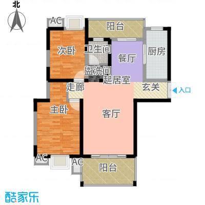 曲江观邸109.57㎡面积10957m户型