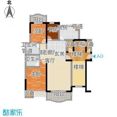 华浮宫桂园3号楼5层西户户型