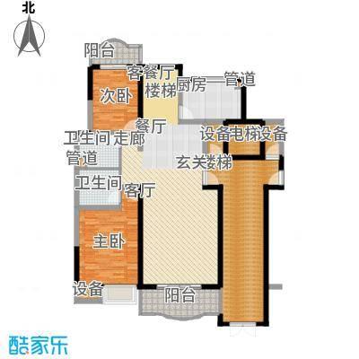 华浮宫桂园三单元西户一层平面图户型
