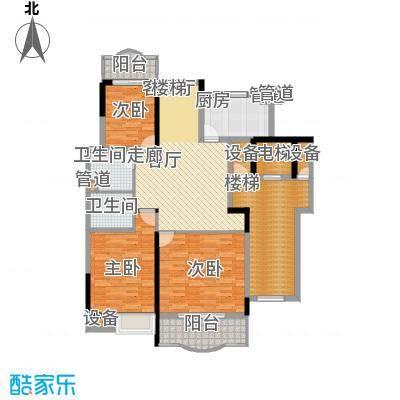 华浮宫桂园三单元西户二层平面图户型